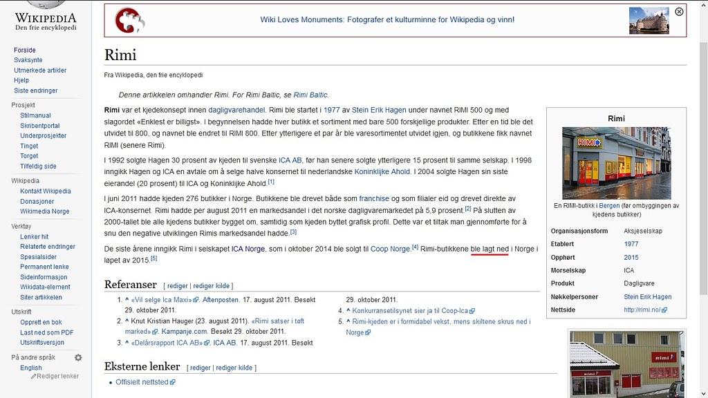 ble lagt ned hm wiki