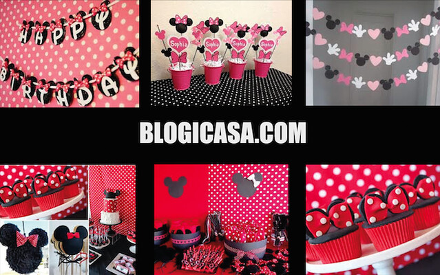 Decoración de Minnie Mouse para Fiestas Infantiles