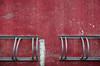 bike rack | red wall