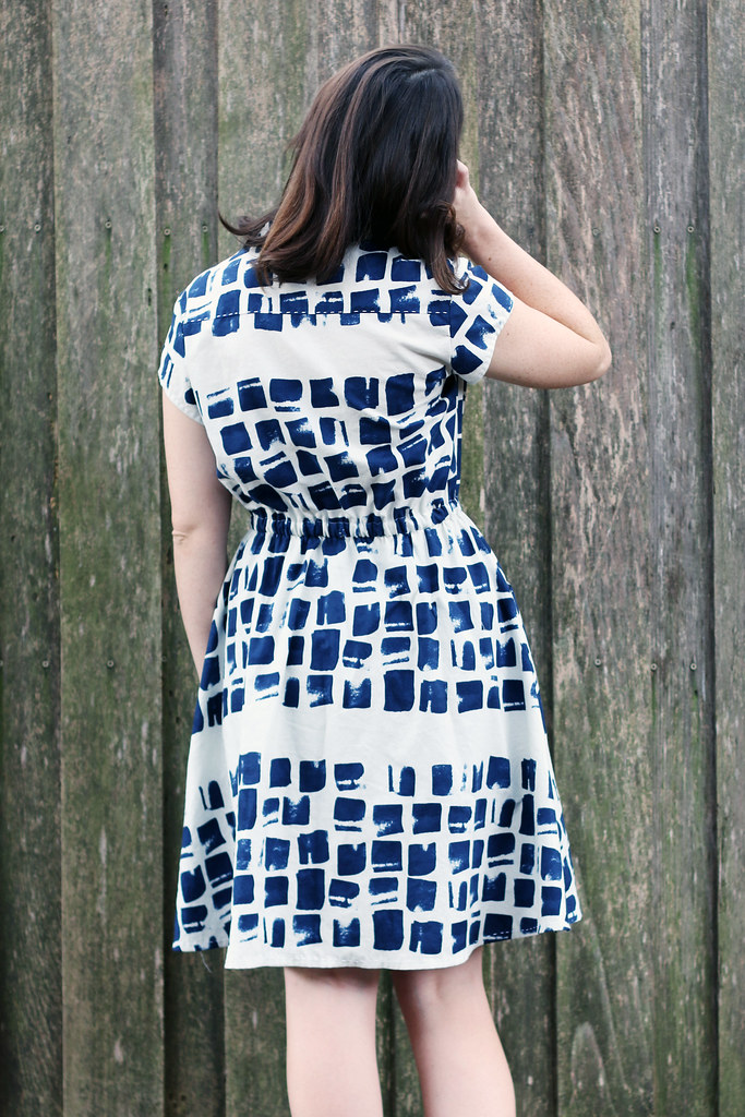 Back view - Blank Slate Patterns Marigold Dress sewn by Dixie DIY - perfect modern dress pattern
