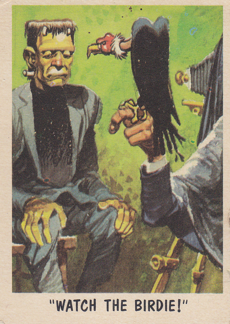 """You'll Die Laughing"" Topps trading cards 1959,  illustrated by Jack Davis (35)"