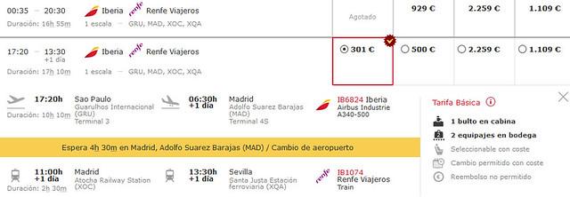Trem + aviao na Espanh