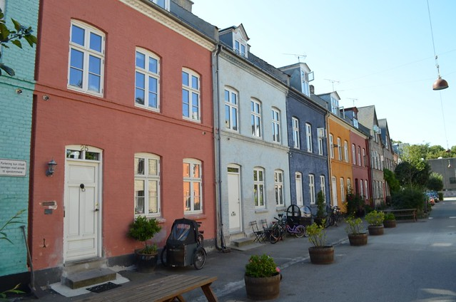 picturesque street in Østerbro Copenhagen