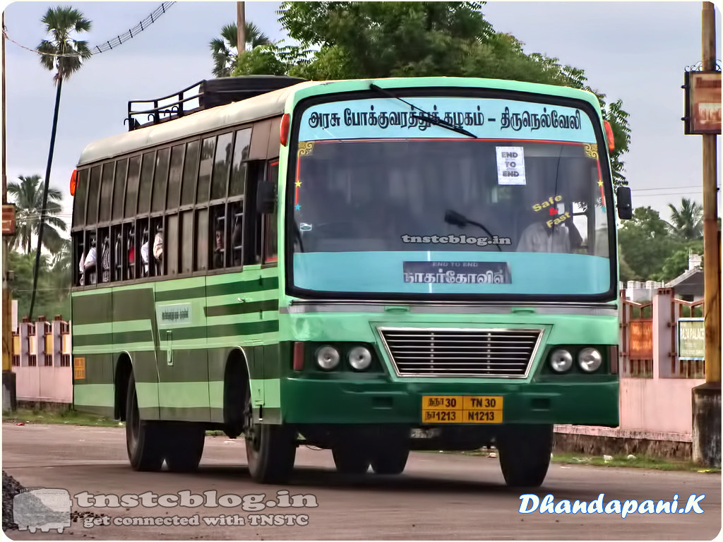 TN-30N-1213 of Ranithootam 1 Depot Route EEE Nagercoil - Tirunelveli