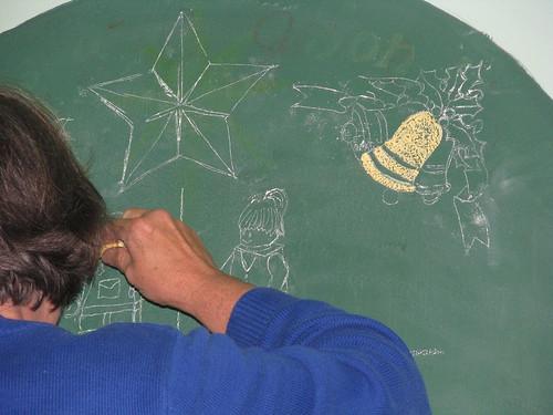 2015 chalkboard Christmas tree