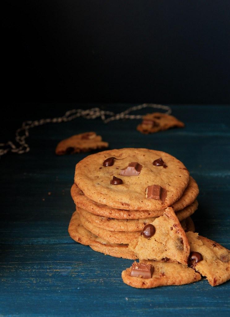 como fazer cookies de chocolate