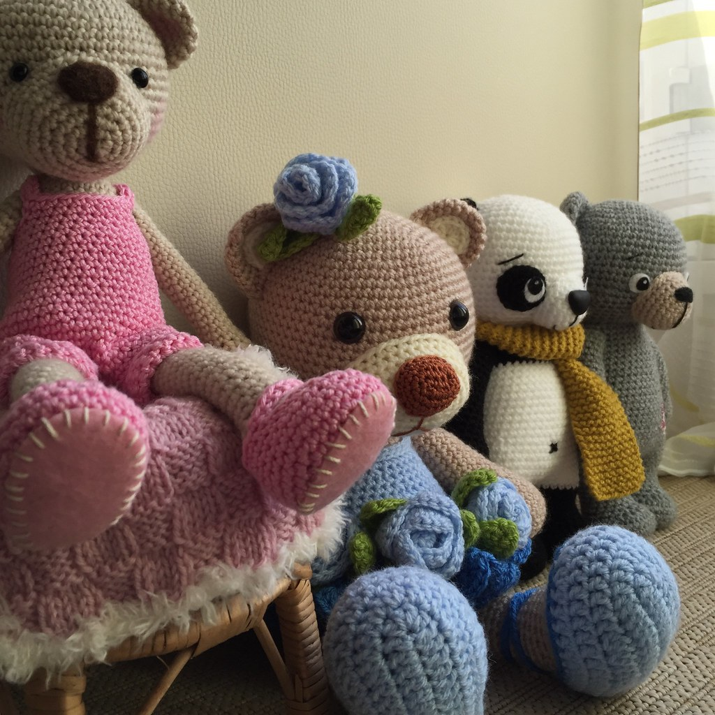 Kissing Bears Amigurumi Pattern, wedding crochet pattern, home ... | 1024x1024