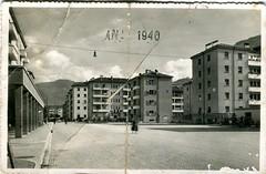 postcard - bolzano - piazza matteotti - 1940