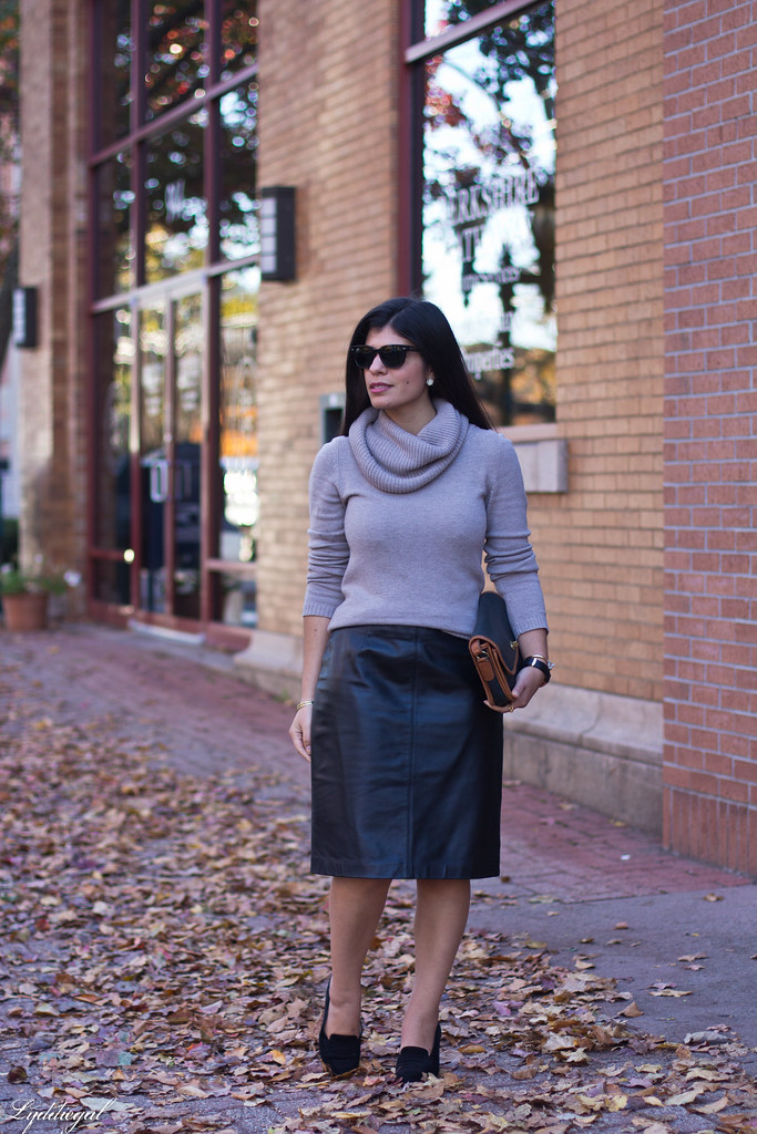 cowl neck sweater, leather pencil skirt, black heels-1.jpg