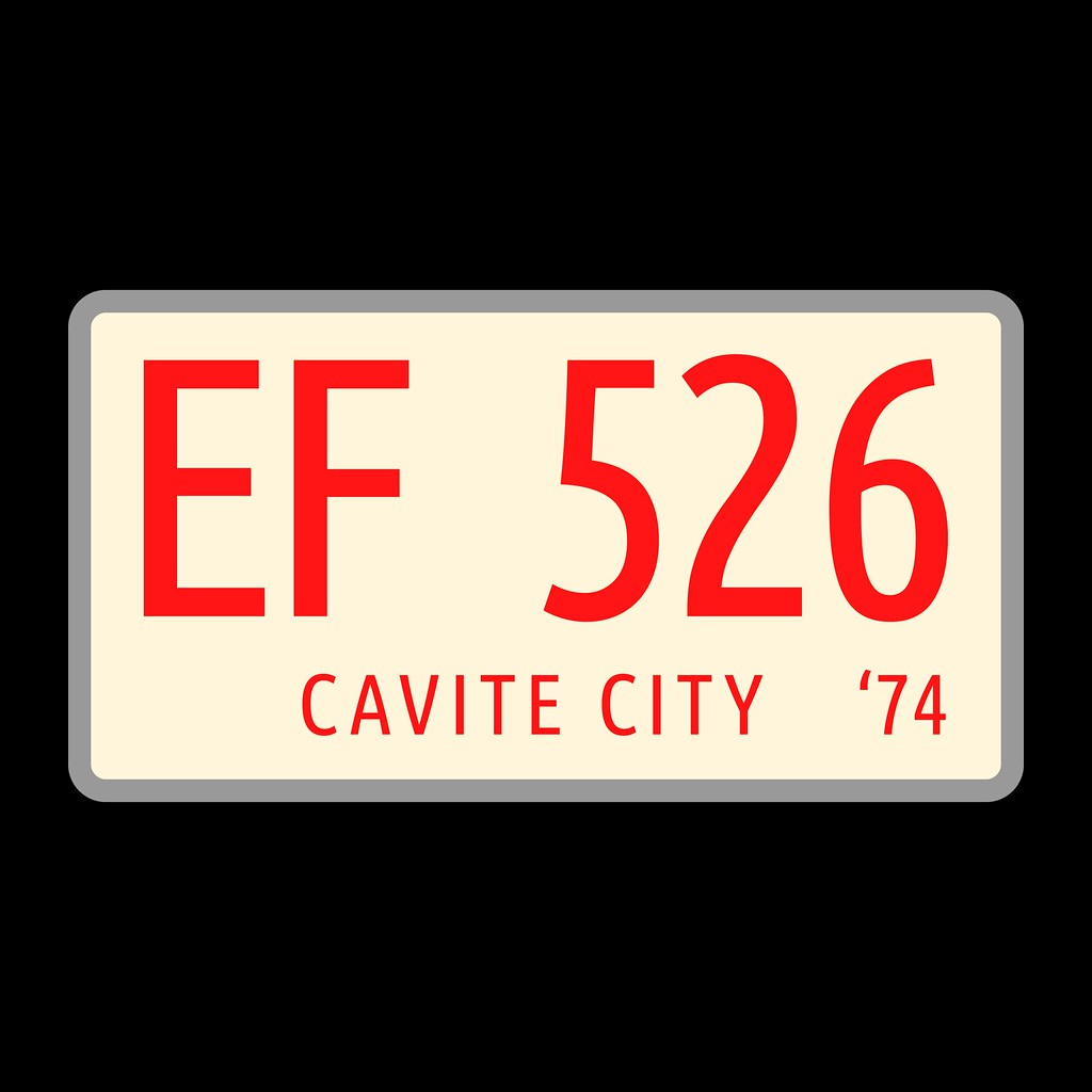 Cavite City Plate Number 1974