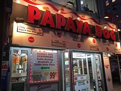 Papaya Dog At Night; New York, New York