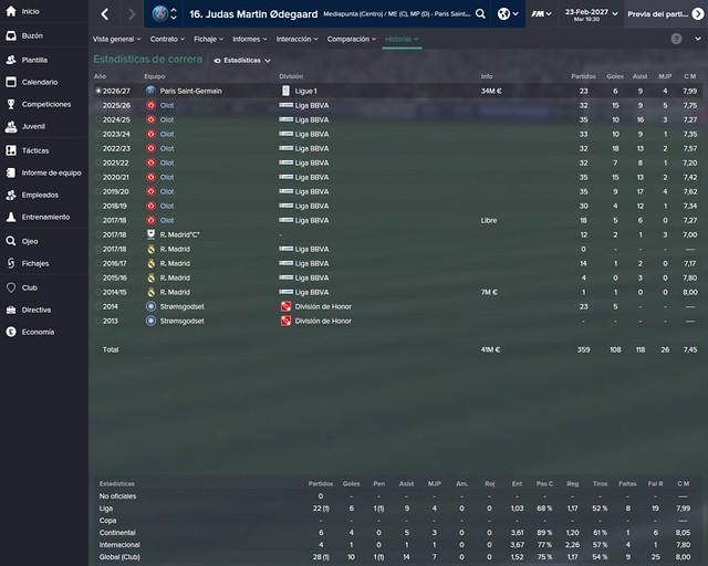Football Manager: Martin Ødegaard - UE Olot