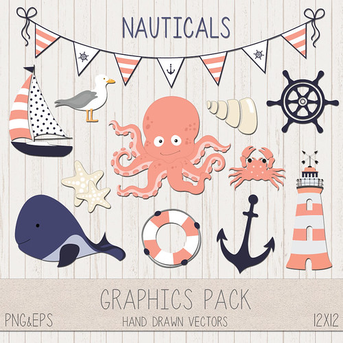 LeeLee Graphics - Nautical Clip Art