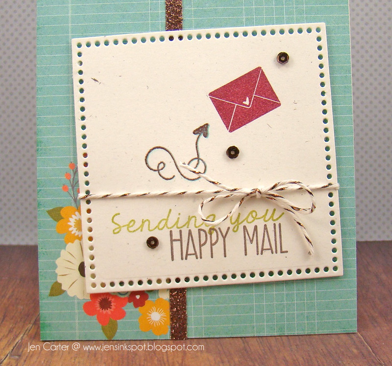 Jen Carter Sending Happy Mail Closeup