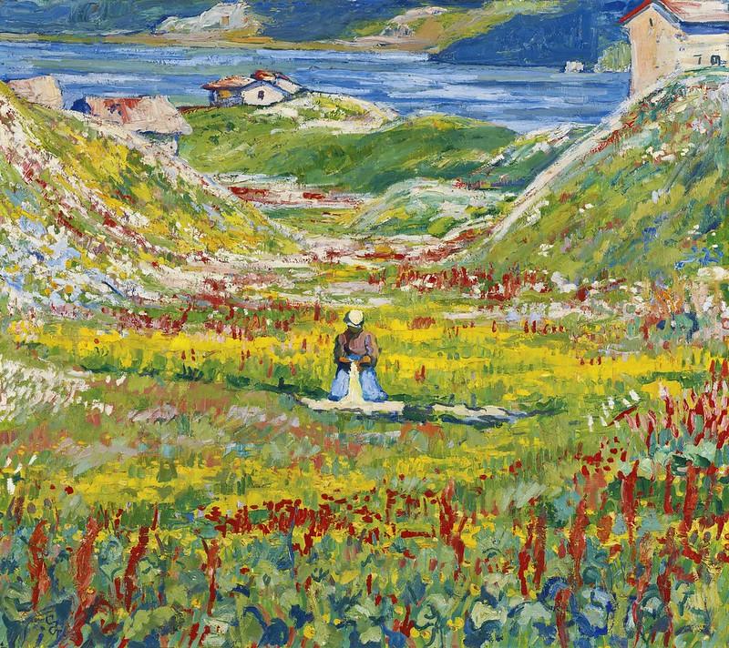 Giovanni Giacometti - Bühende wiesen bei maloja (Valle fiorita)