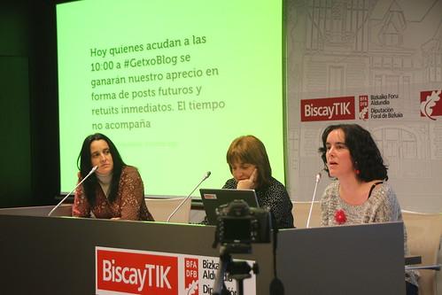 Mesa blogueras de Las doce Miradas en#GetxoBlog