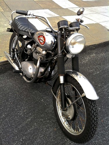 Classic BSA ...looks like an original with Dunlop tyres, drum brakes, right gear shift