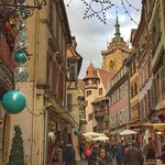Wow. Colmar, France! Certainly French, a little bit Germanic, decidedly Alsatian. Voltaire spent some time here (apparently, he was a philosophe-nomad). His quote: A city half-German, a city half-French, and wholly Iroquoian. That last bit was his polit