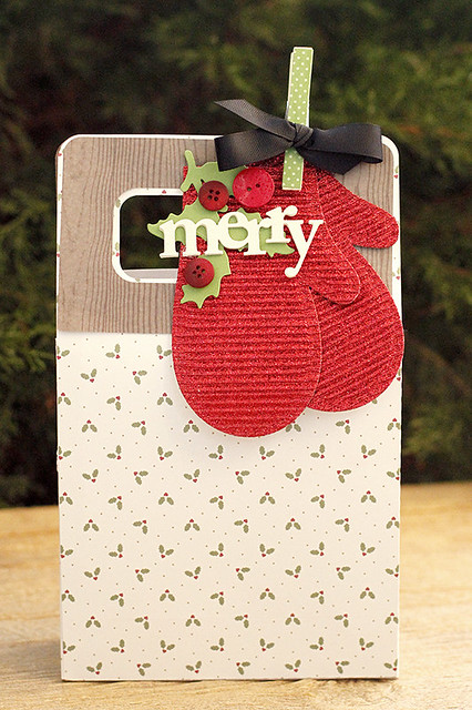 Specialty Papers Used with Beaded Holiday Stitch Kit Mitten