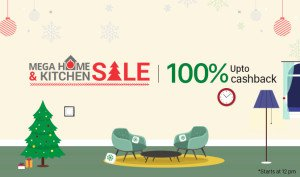 paytm mega home and kitchen sale 100 cashback 18 20 dec 2015 date