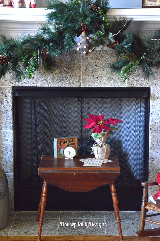 Media Room Mantel and Hearth/Christmas 2015 - Housepitality Designs