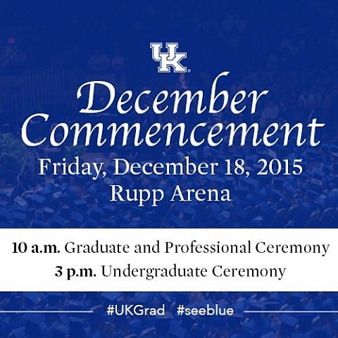 Join us tomorrow as we celebrate our newest graduates at the 2015 Commencement ceremonies at @rupp_arena. Can't make it to watch your special #UKGrad? No problem, catch the ceremonies livestreamed on UKNow: www.uky.edu/uknow.