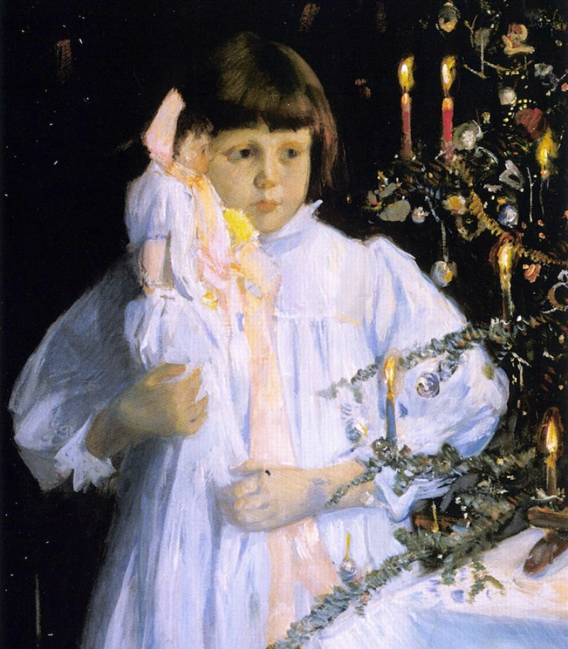 The Christmas Tree by Julian Alden Weir - 1890
