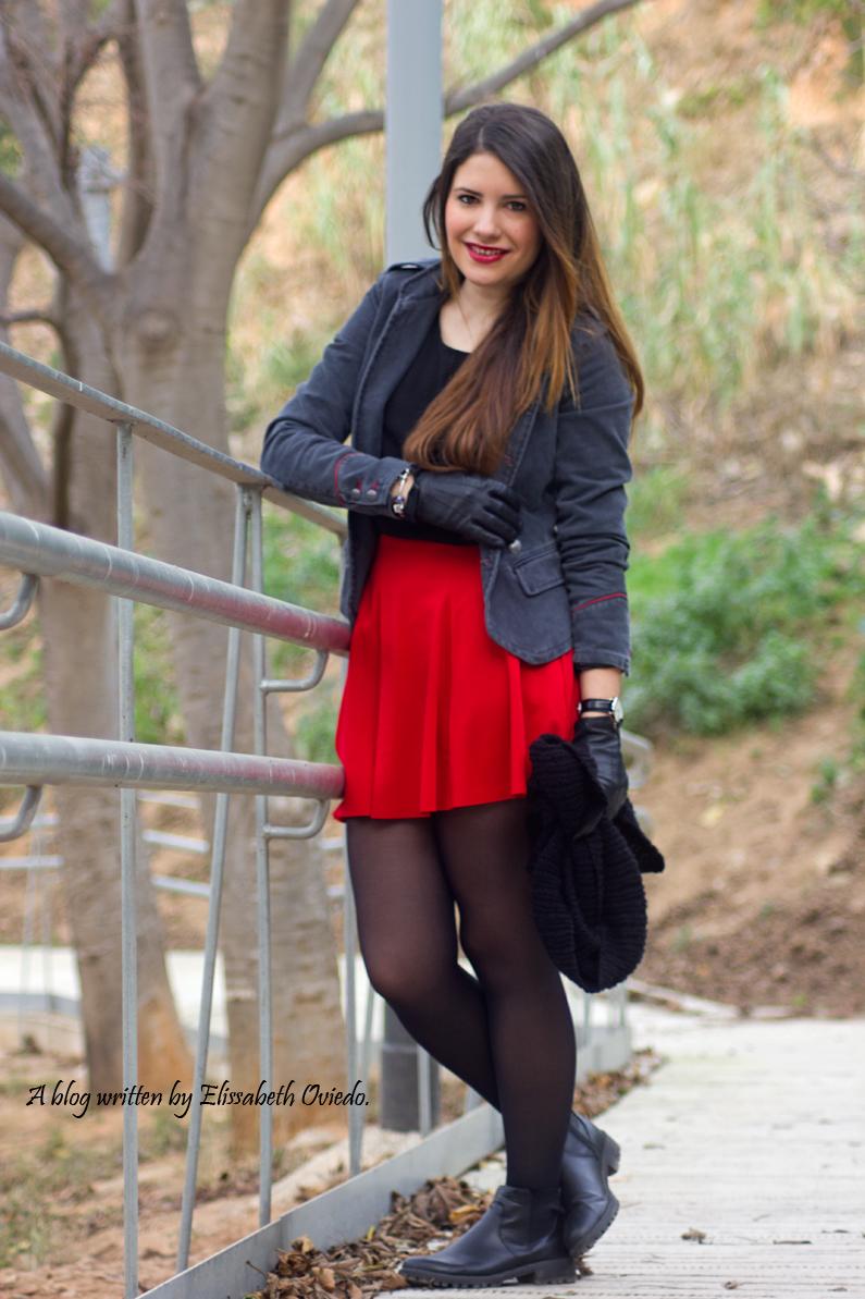 falda roja chaqueta militar mango zara look 2016 HEELSANDROSES (5)