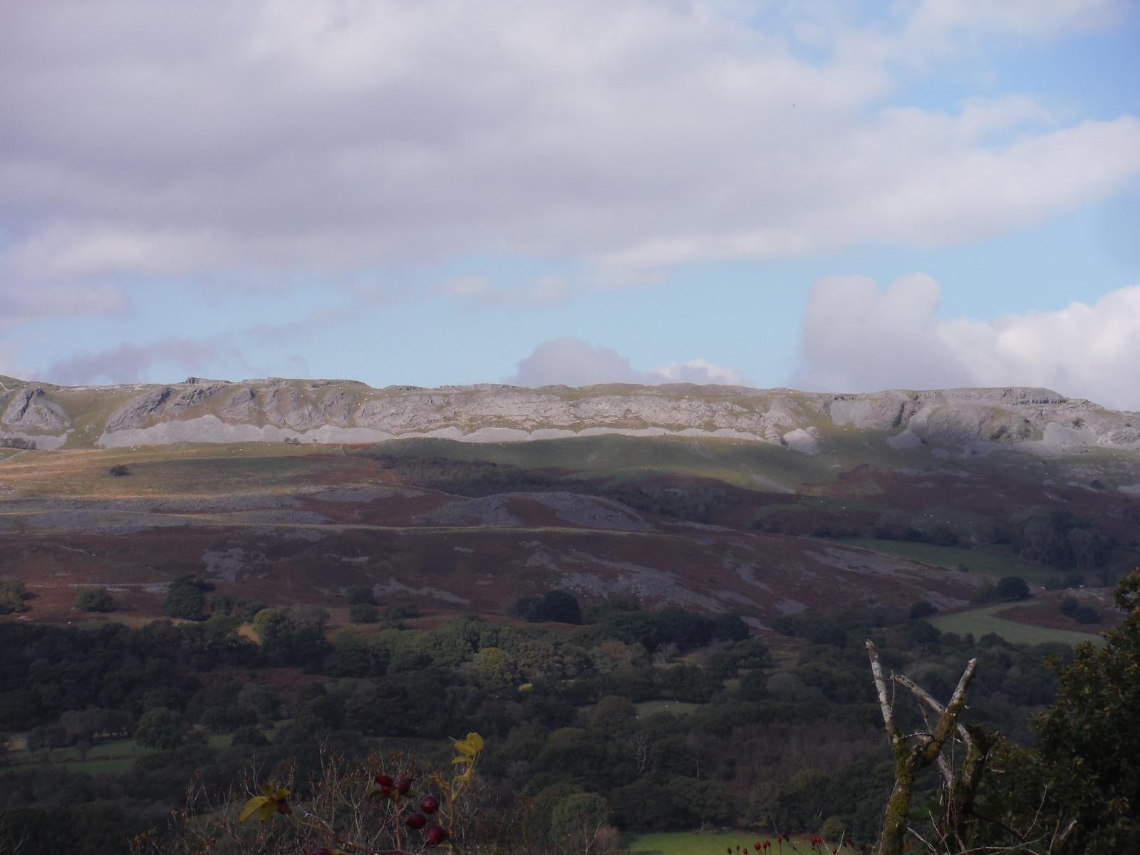 Cribarth Plateau from across Cwm Tawe SWC Walk 280 Henrhyd Falls - Sgwd Henrhyd (Craig y Nos Circular)