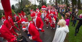 The Myton Hospices Santa Dash 2015 Warwick