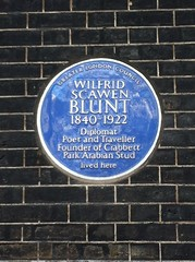 Photo of Wilfrid Scawen Blunt blue plaque