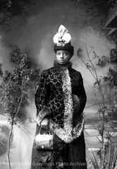 """pogphotoarchives: """"Elegantly dressed negro woman (possibly one of Sadie Orchard's girls)"""", portrait of an unidentified African American woman from the mining area of Hillsboro and Kingston, New Mexico Photographer: J.C. Burge Date: 1885 - 1892? Negative N"""