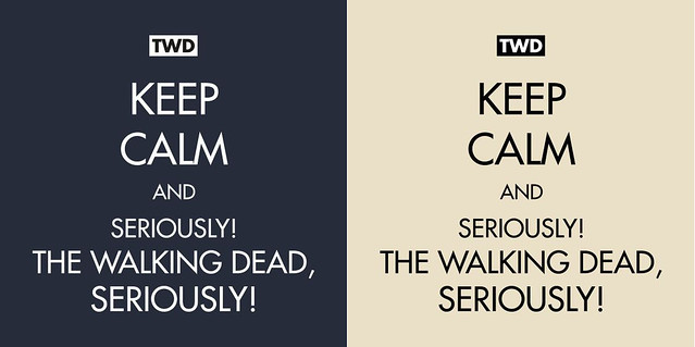Seriously! TWD