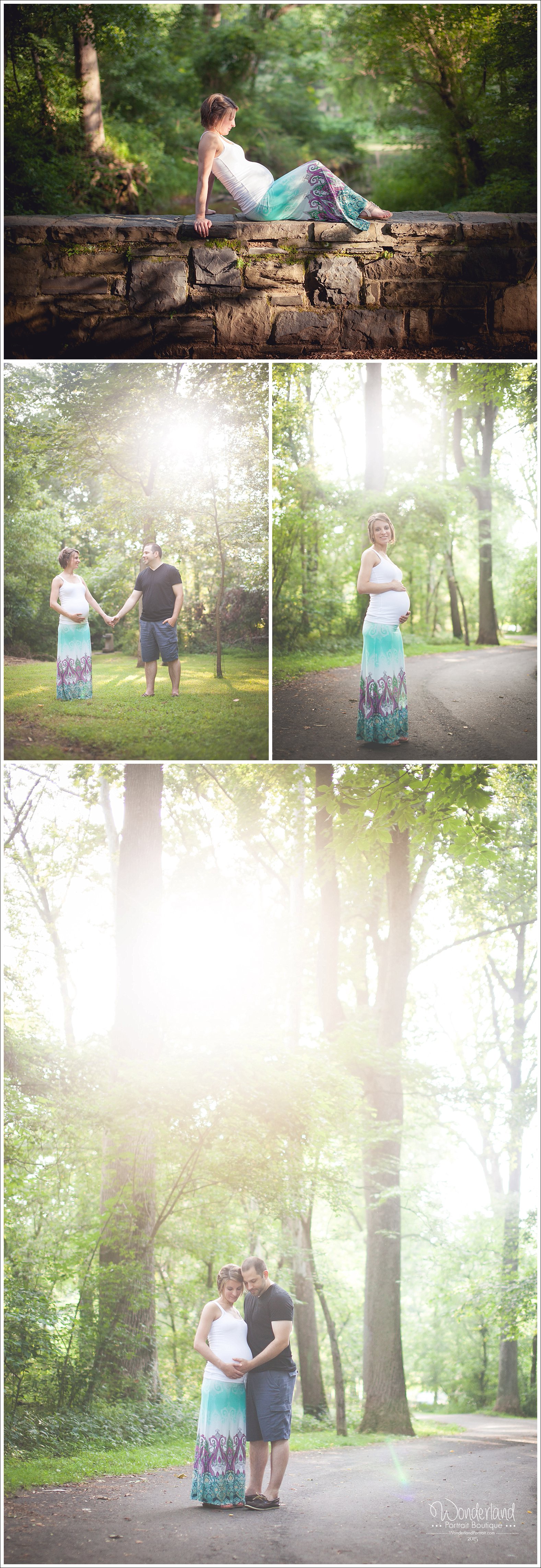 Bucks County PA Newtown Maternity Photos Tyler State Park | WonderlandPortrait.com