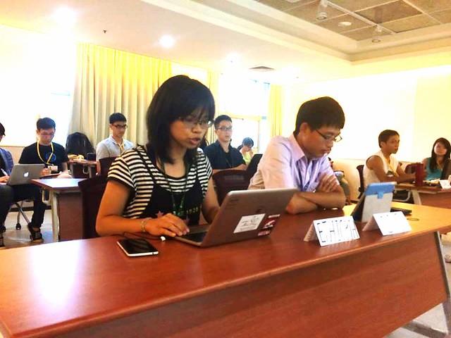 模擬COP21會議現場。圖片來源:台灣青年氣候聯盟。