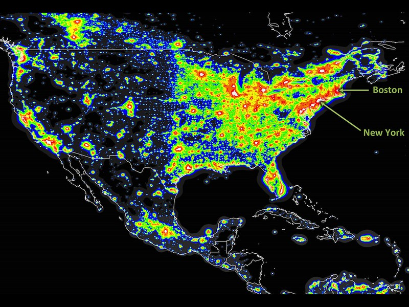 light pollution USA