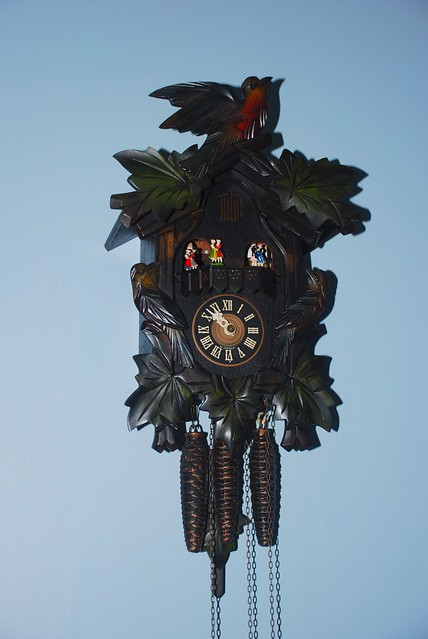 Cuckoo Clock - 5 Leaf, musical, 1 day