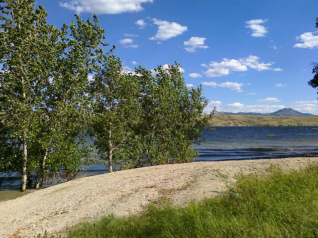 Camped at Pathfinder Reservoir, Wyoming, July 12, 2010