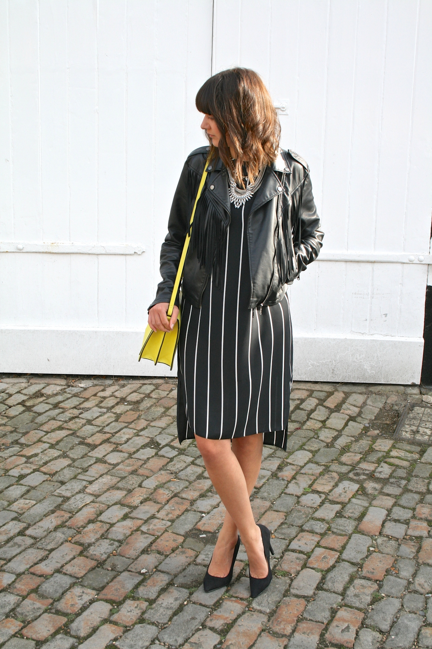 stripy primark dress