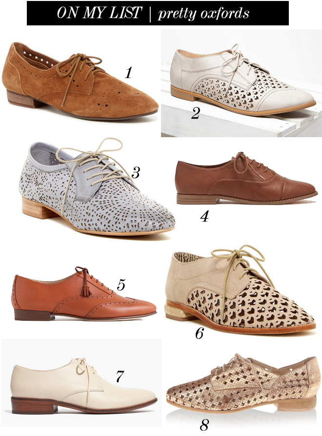 on my list pretty oxfords