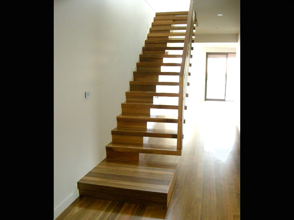 Half Open Cantilever Stair In Spotted Gum