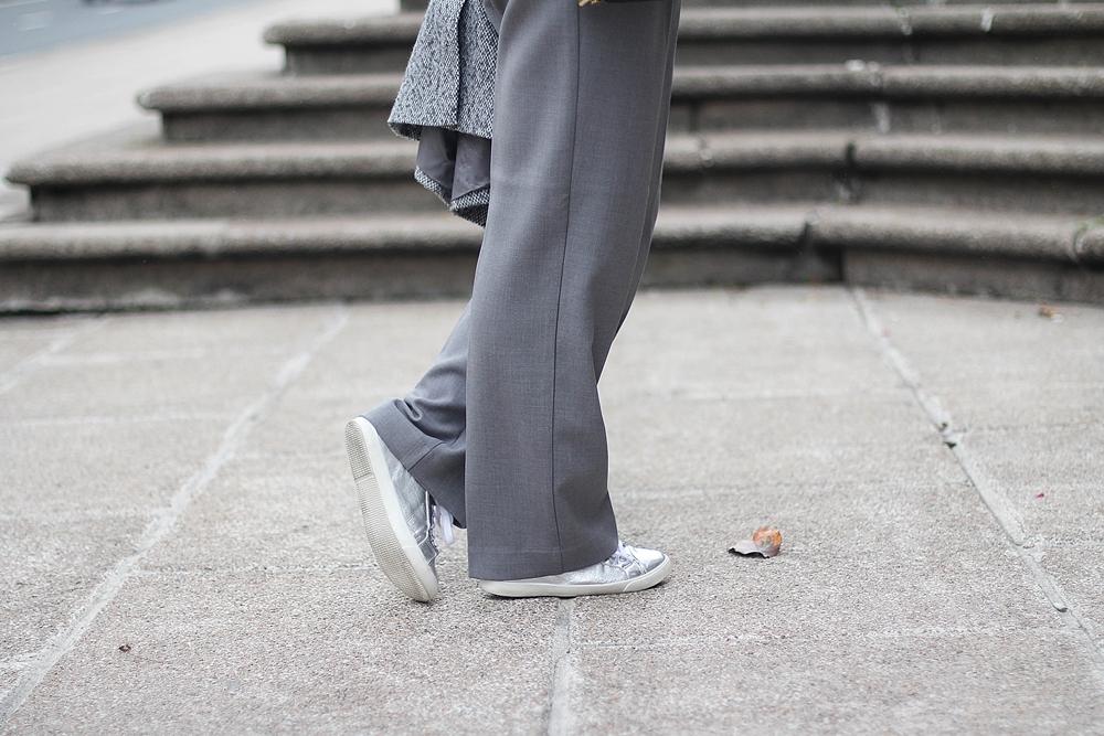 silver sneakers la redoute streetstyle