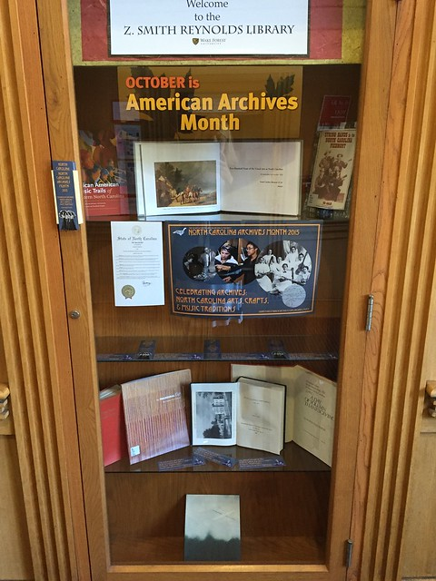 2015 NC Archives Month exhibit