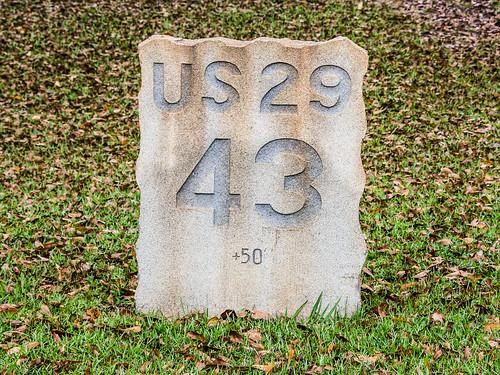 U.S. 29 milestone 43 - 2