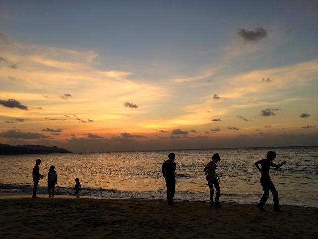 島の夕まずめ...
