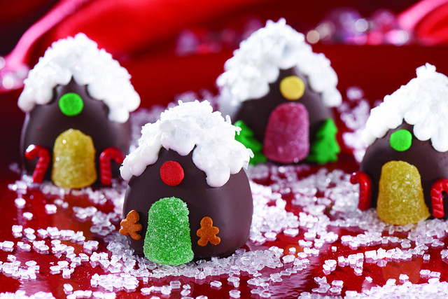 OREO Cookie Ball Gingerbread Houses