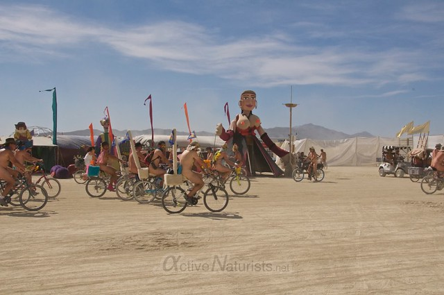 naturist naked pub crawl 0002 Burning Man 2015, Black Rock City, Nevada, USA