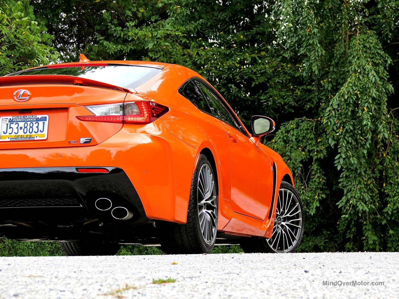 Orange Lexus RC-F Review 16