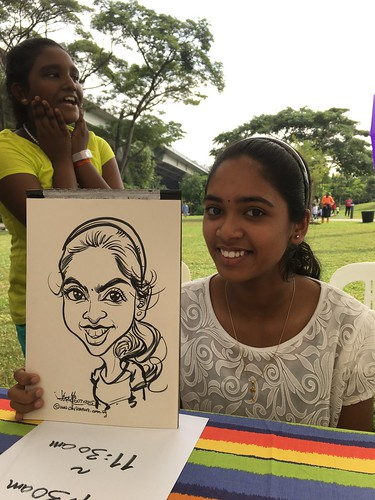 Caricature live sketching for GE Aviation Engine Services SINGAPORE 2015
