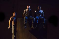 Alex Austin, Brian Vernel & Fisayo Akinade in Barbarians :copyright: Ellie Kurttz